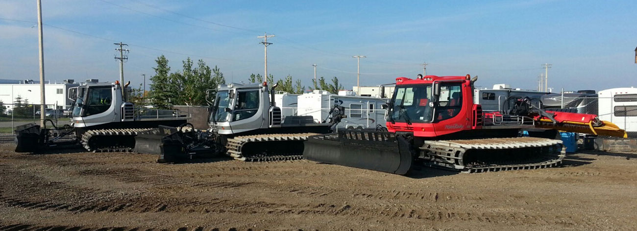 We carry Bombardier and Pisten Bully brands of refurbished snow cats